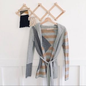 Anthropologie Sparrow | Geo Wool Hooded Sweater